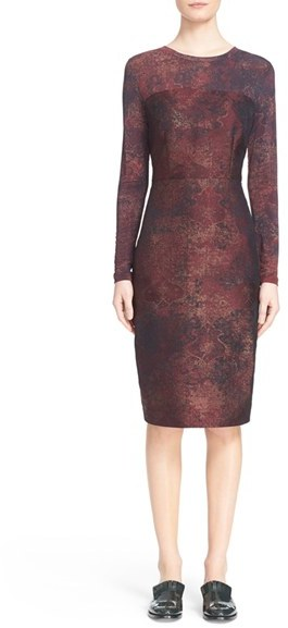 Max Mara Women's Max Mara 'Varna' Jacquard Sheath Dress