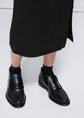 Alumnae Chunky Slip On Loafer Bootie