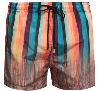 6aaa332c20 Paul Smith Signature And Artist Striped Swim Shorts - Mens - Multi