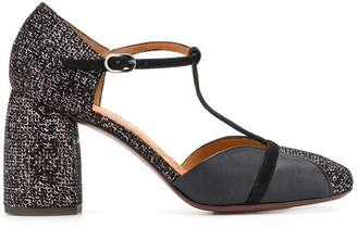 Chie Mihara t-bar two tone sandals