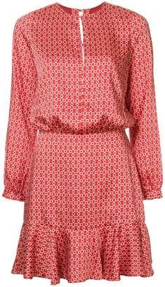 Alexis geometric print dress
