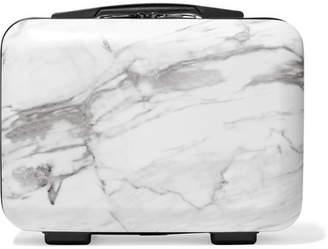 CalPak Astyll Marbled Hardshell Vanity Suitcase - White