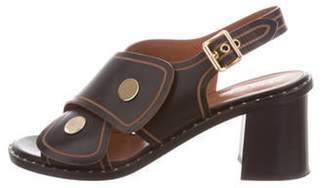 Derek Lam Leather Crossover Strap Sandals Black Leather Crossover Strap Sandals