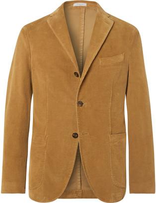 Boglioli Navy K-Jacket Slim-Fit Unstructured Stretch-Cotton Corduroy Suit Jacket