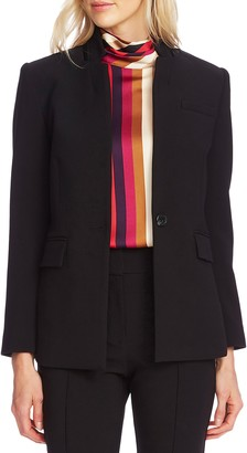 Vince Camuto Inverted Notch Collar Crepe Blazer