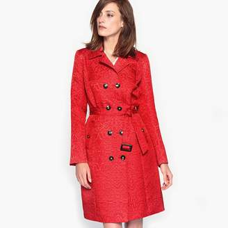 Anne Weyburn Jacquard Trench Coat