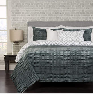 Siscovers Interweave Contemporary Reversible 6 Piece Queen Luxury Duvet Set Bedding