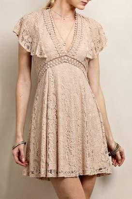 Soieblu Taupe Lace Dress