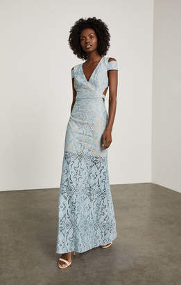 BCBGMAXAZRIA Ava Cutout Lace Gown