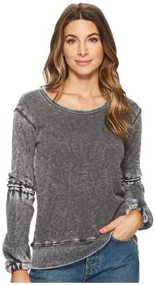 Allen Allen Lantern Sleeve Shirt with Ruffle Women's Long Sleeve Pullover
