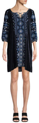 Johnny Was Nomi Velvet Peasant Tunic Dress, Plus Size