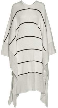 Stella McCartney Draped Striped Knitted Cotton Dress