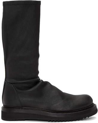 Rick Owens Black Sock Creeper Boots