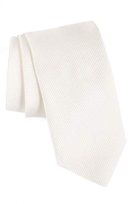 David Donahue Stripe Silk Tie