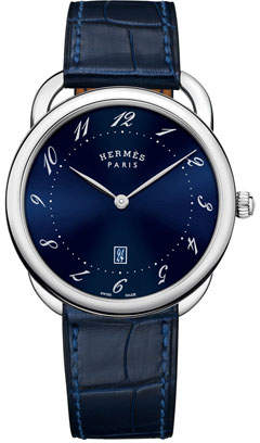 Hermes 40mm Arceau Watch with Alligator Strap