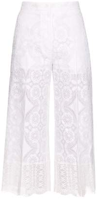 HILLIER BARTLEY High-rise wide-leg lace trousers