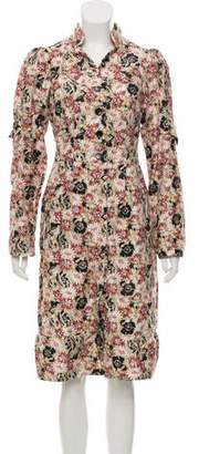 Alexandre Herchcovitch Floral Print Knee-Length Dress