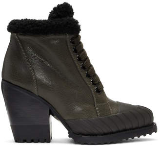 Chloé Grey Rylee Lined Hiking Boots