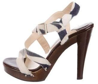 Jimmy Choo Ponyhair Platform Sandals