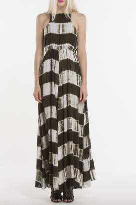 Line & Dot Shibori Maxi Dress