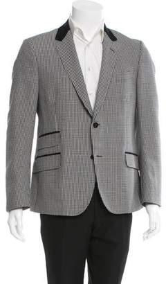Gucci Suede-Trimmed Wool-Blend Blazer