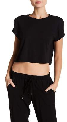 Splendid Cropped Knit Tee