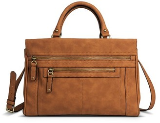 Merona Women's Faux Leather Solid Satchel Handbag with Zipper Pockets $44.99 thestylecure.com