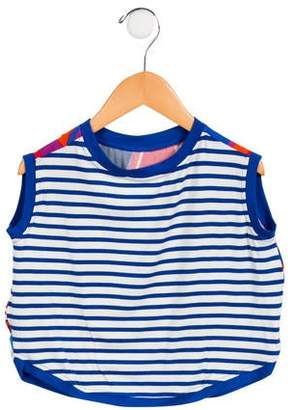 Junior Gaultier Girls' Striped Abstract Top w/ Tags