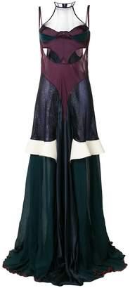 Esteban Cortazar cut out bustier gown