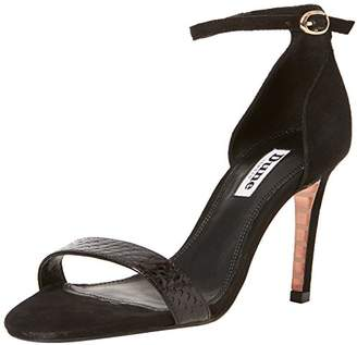 Dune Women's Mortimer Ankle Strap Sandals, Black, 38 EU