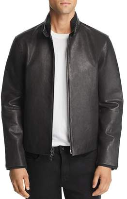 John Varvatos Collection Zip-Front Leather Jacket