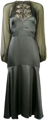 Temperley London fitted flared dress