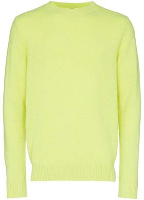 The Elder Statesman yellow cashmere crew neck sweater