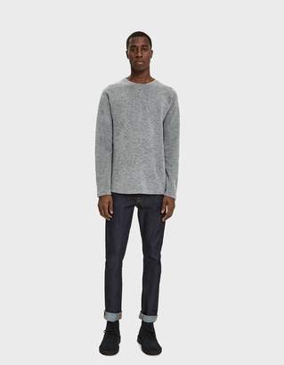 Wings + Horns Wings+Horns Felted Wool Crewneck Sweater in Heather Grey