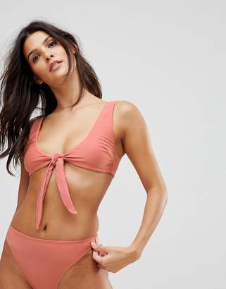 Playful Promises Bunny Tie Front Bikini Top