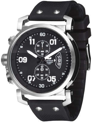 """Vestal Stainless Steel & Silicone Chrono Watch """"USS Observer"""""""