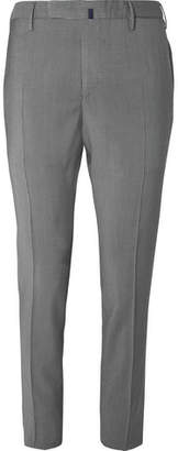 Incotex Slim-Fit Garment-Dyed Puppytooth Wool Trousers