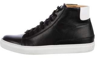 Barneys New York Barney's New York Leather High-Top Sneakers