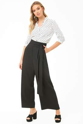 Forever 21 Pleat-Front Gaucho Pants
