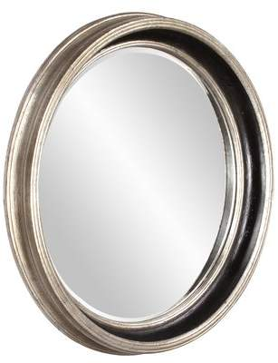 Co Darby Home Round Silver Leaf Accent Mirror