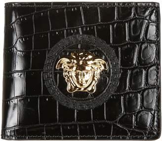 Versace Crocodile Bifold Wallet