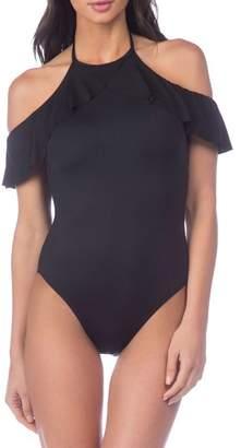 LaBlanca La Blanca Island Goddess Cold Shoulder One-Piece Swimsuit