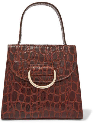 7663368a72 Little Liffner - Little Lady Croc-effect Leather Tote - Brown