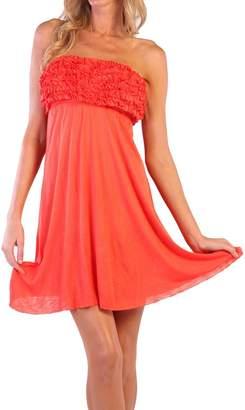 Ingear Short Strapless Ruffle Dress