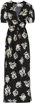 Miu Miu Jacquard silk maxi dress