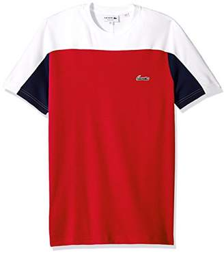 Lacoste Men's Short Sleeve Color Block Life Double Face Reg Fit T-Shirt