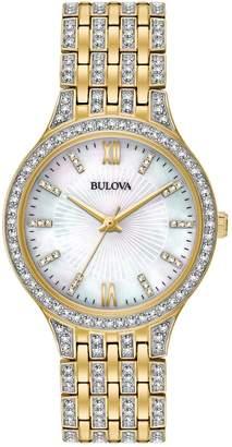 Bulova Women's Crystal Watch, 32mm