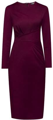 Mulberry Rumour London - Rebecca Soft Jersey Dress With Waistline Drapes