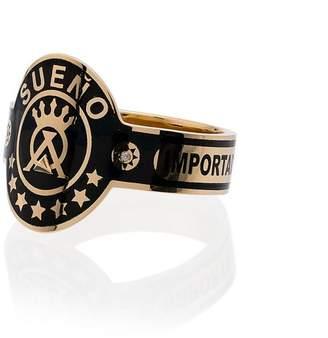 Foundrae 18k yellow gold Dream Cigarband diamond ring