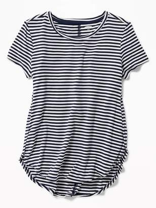 Old Navy Striped Jersey Tulip-Hem Tunic Tee for Girls